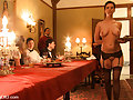 Kinky Dinner Party with Slaves Serving under the table