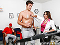 Coach Cox is insisting on a Cardiac Stress test for his best player, Ramon, whose back from a hiatus for the big game. But Coach Cox is still unsatisfied by the results of sexy doctor Raylene's stress test. She decides to administer her own private test to see if Ramon will still cum out on top!